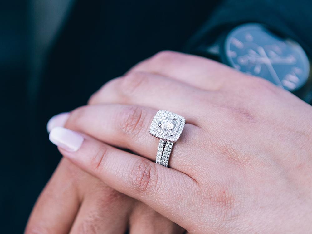 婚約指輪・結婚指輪 重ね着け エタニティリング